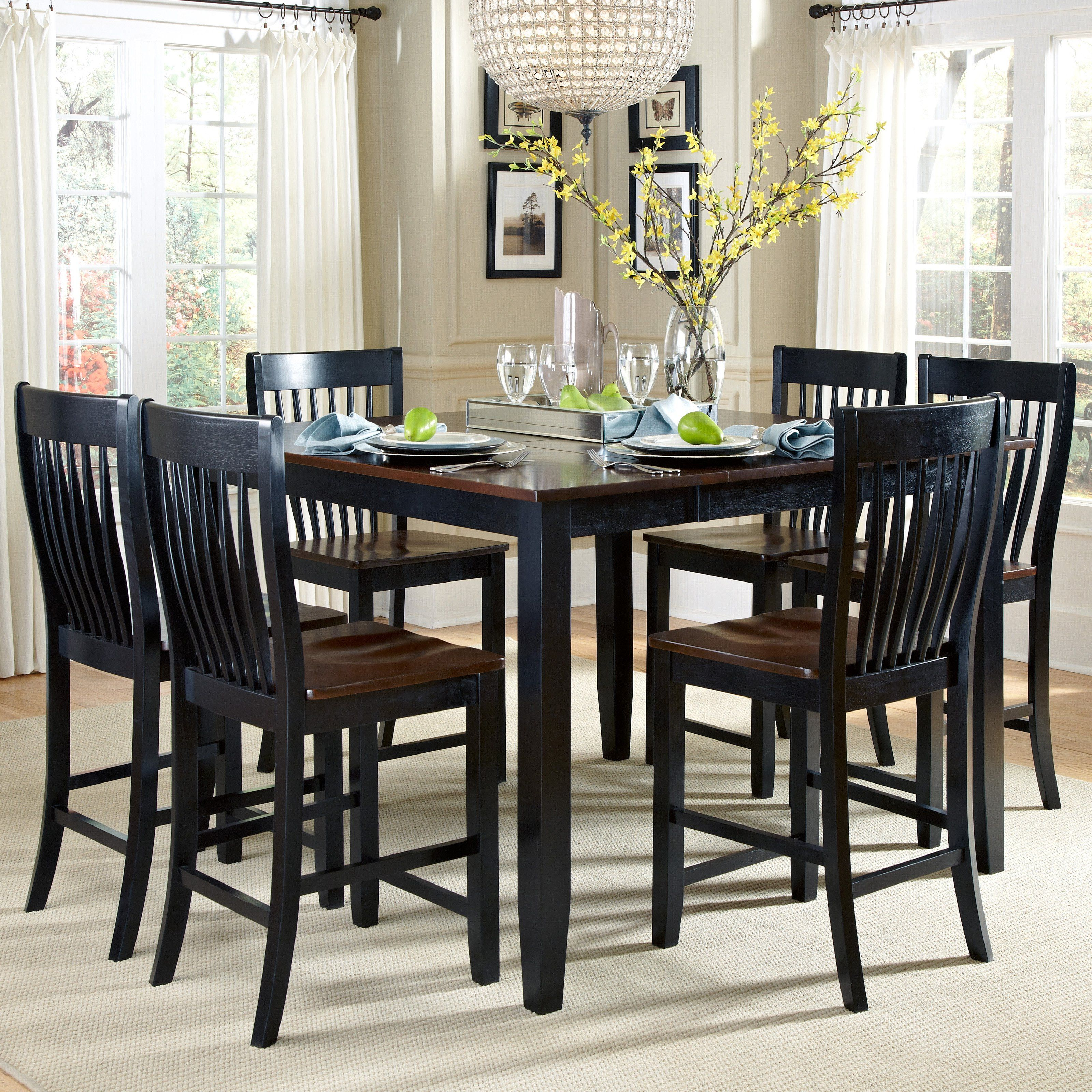 AHB Ellington 7 Piece Counter Height Dining Table