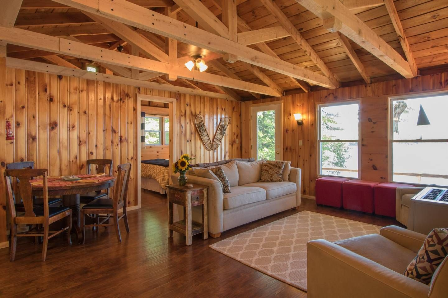 cabin experience romantic rental sunsets for in maine this on england cabins amazing lake rent views pin new mountain moosehead lakefront and