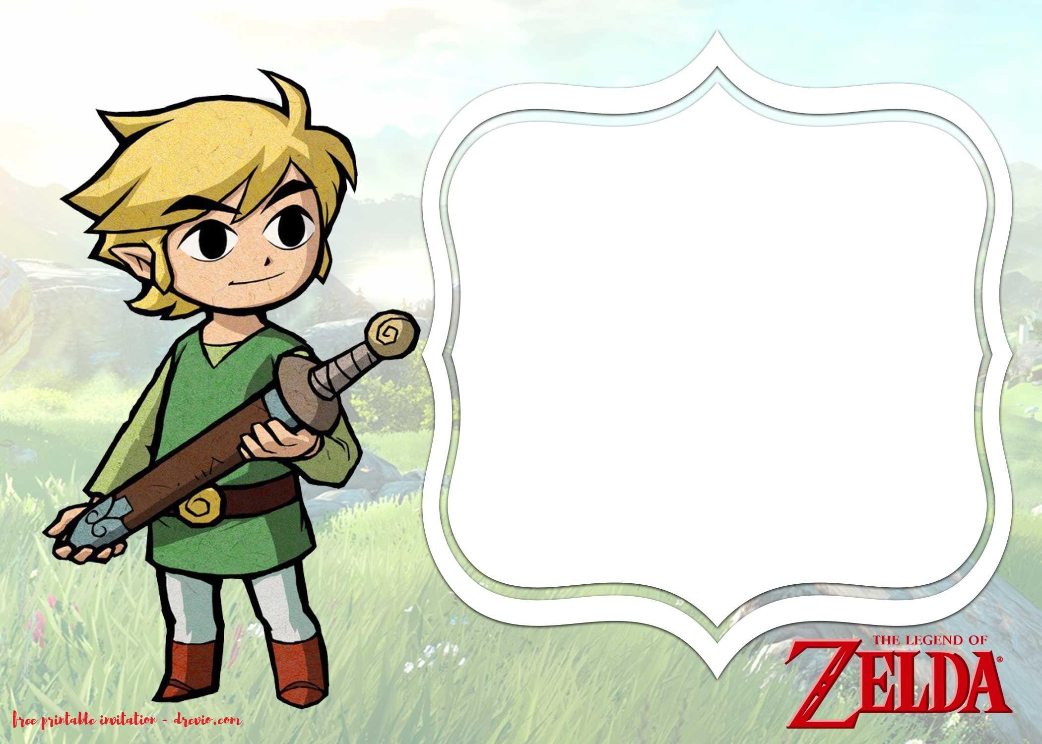 Get FREE Printable Legend Of Zelda Invitations Templates