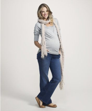 Maternity Over The Bump Boot Cut Jean Long Length £17 http://www ...