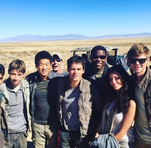 On the set! #ScorchTrials