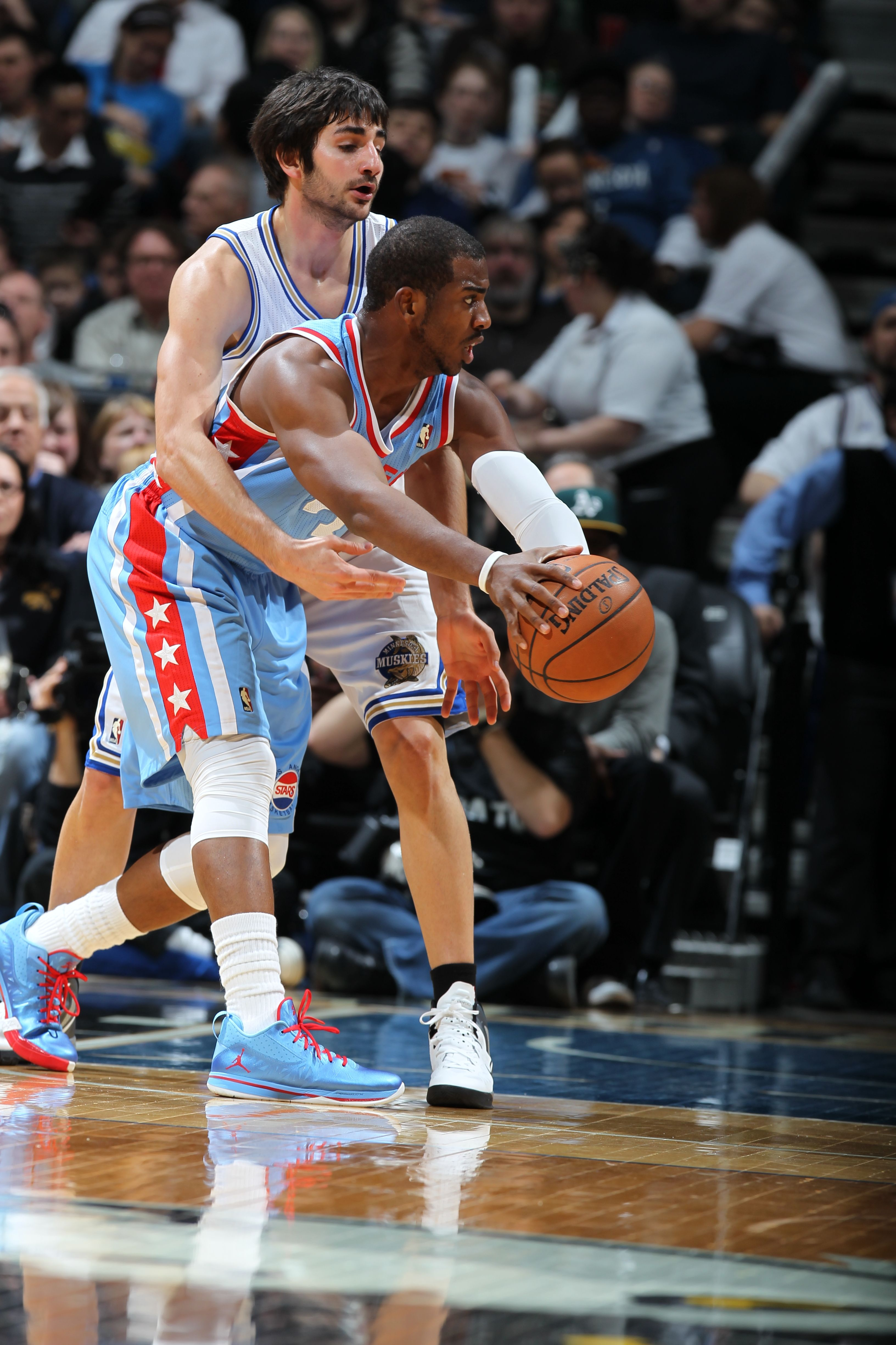 Chris Paul Los Angeles Clippers Getting Harassed By Rookie Phenom Ricky Rubio Minnesota Timberwolves Los Angeles Clippers Chris Paul Nba League Pass