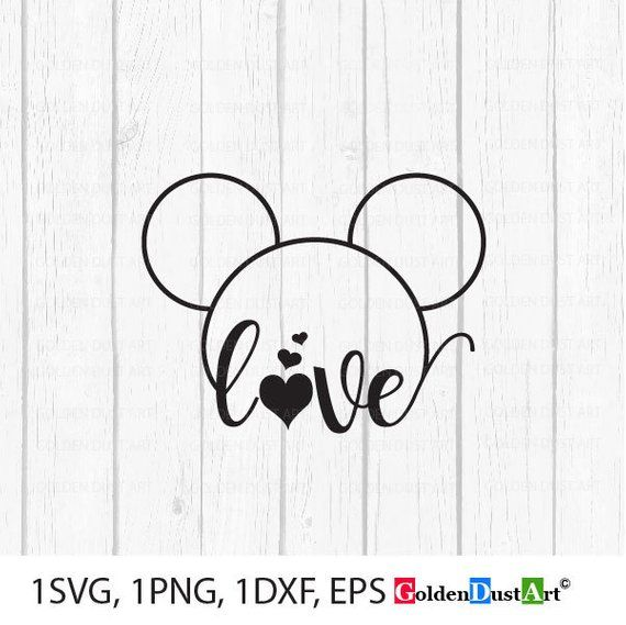 Download Love Mickey Svg, Love Disney Svg, Mickey Head svg, Mickey ...