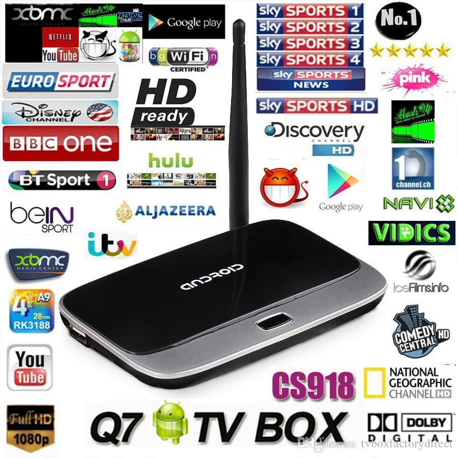 CS918 Android tv box quad core RK3188T 1GB/8GB Cortex A9 Smart TV