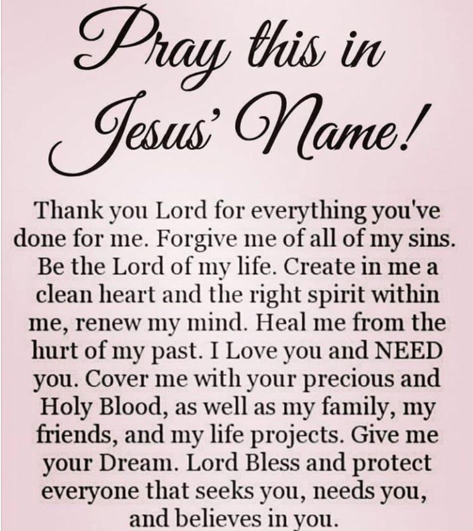 IN JESUS NAME I PRAY AMEN, AMEN, AND AMEN! | PRAYER AND ...
