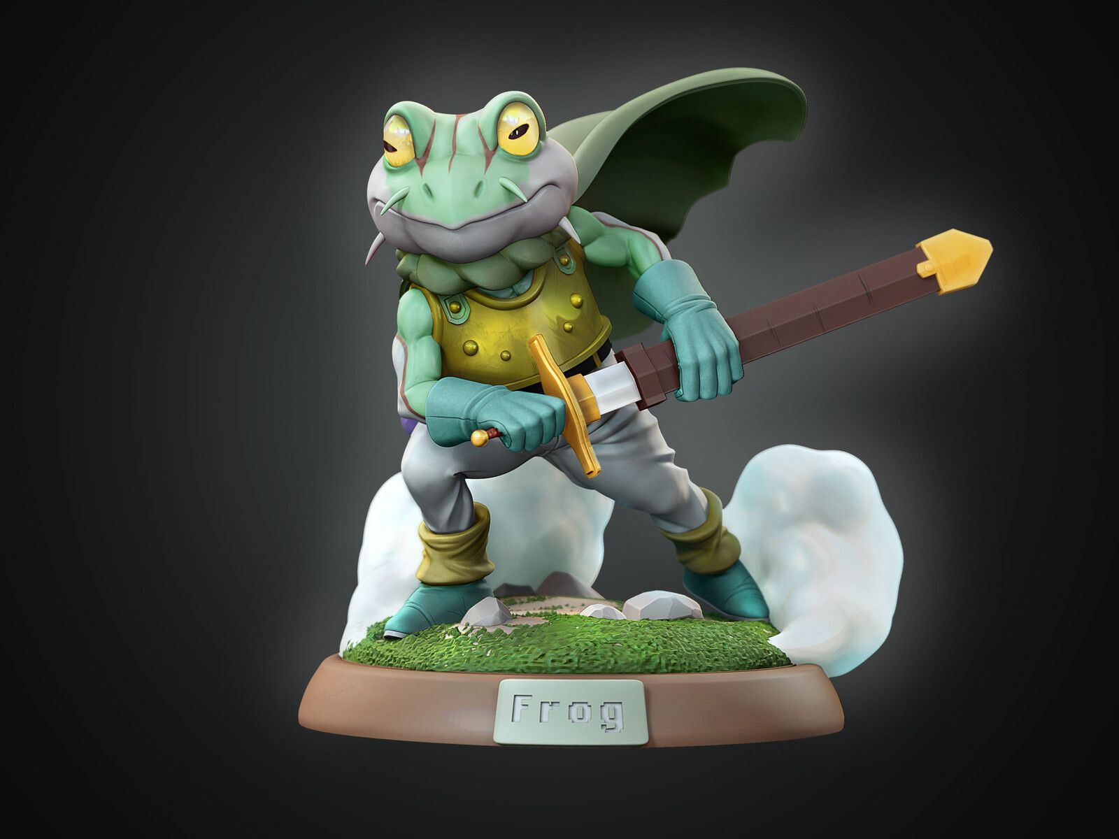 Frog Chrono Trigger Fan Art Tarcisio Rezende On Artstation At Https Www Artstation Com Artwork N5e6nd Chrono Trigger Frog Character Fan Art