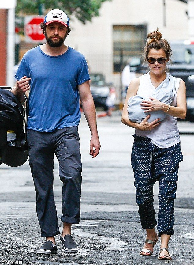 Keri Russell and Matthew Rhys' new baby seen for the first ...