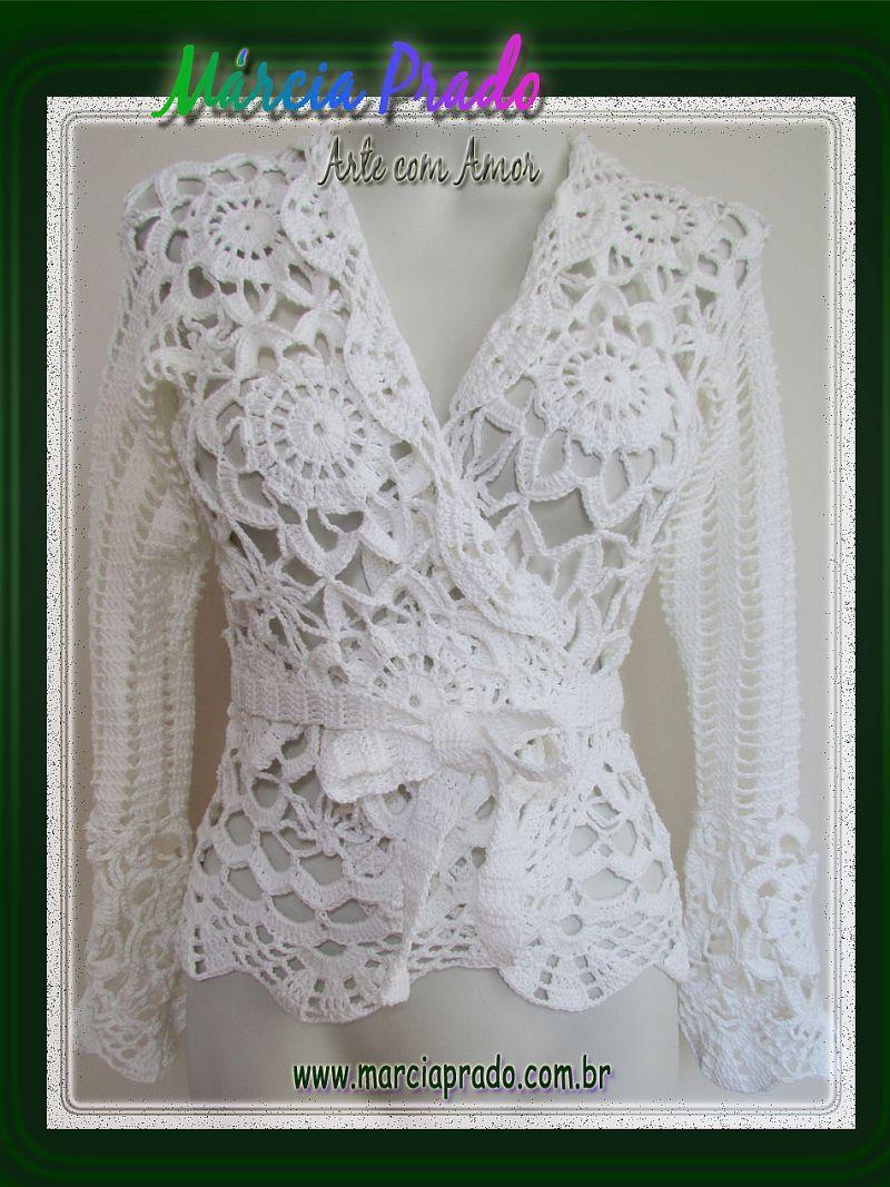 """Márcia Prado ♥ Arte com Amor ♥: Blusa Cot"""" Branca - via http://bit.ly/epinner"""