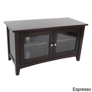 Fair Haven 36-inch Wood TV Stand with Glass Doors - Free Shipping ...