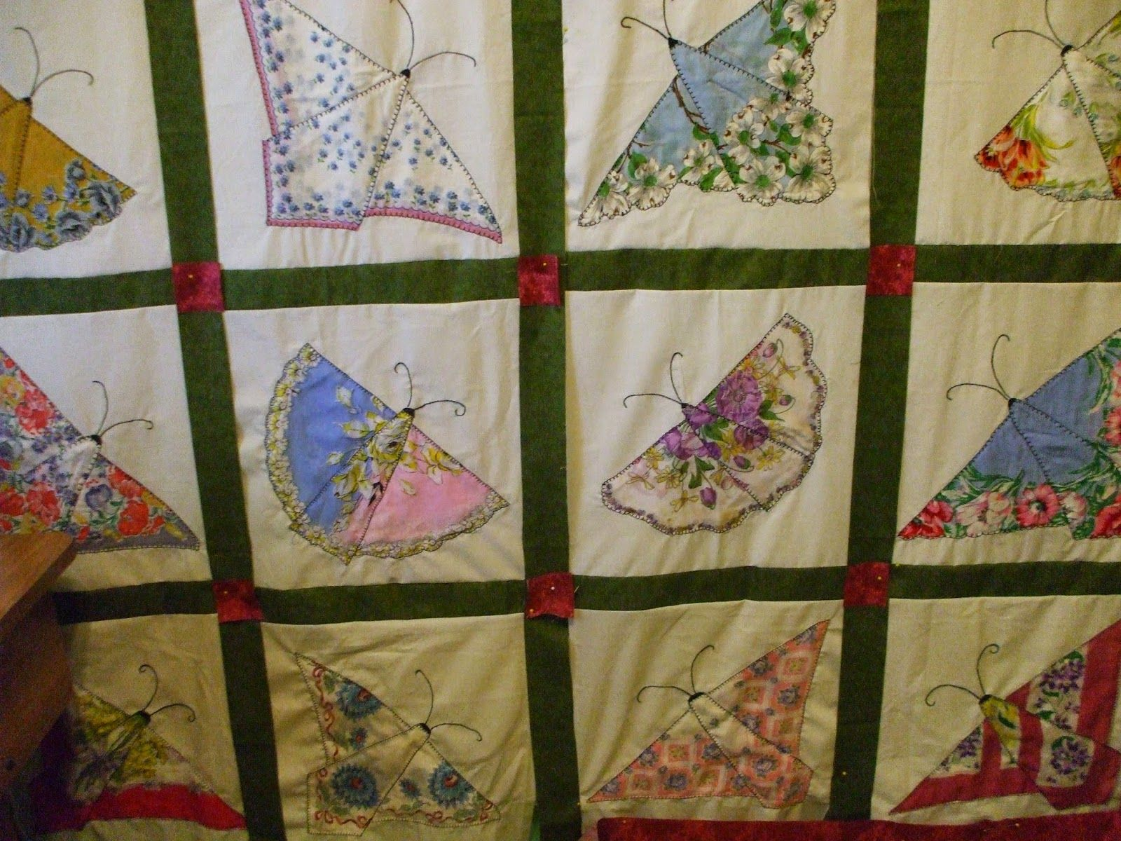 Quilts and Art by Cheryl: Handkerchief Butterfly Quilt