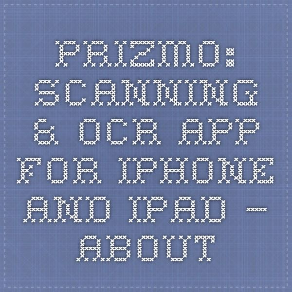 Prizmo Pro Scanning OCR App For IPhone And IPad