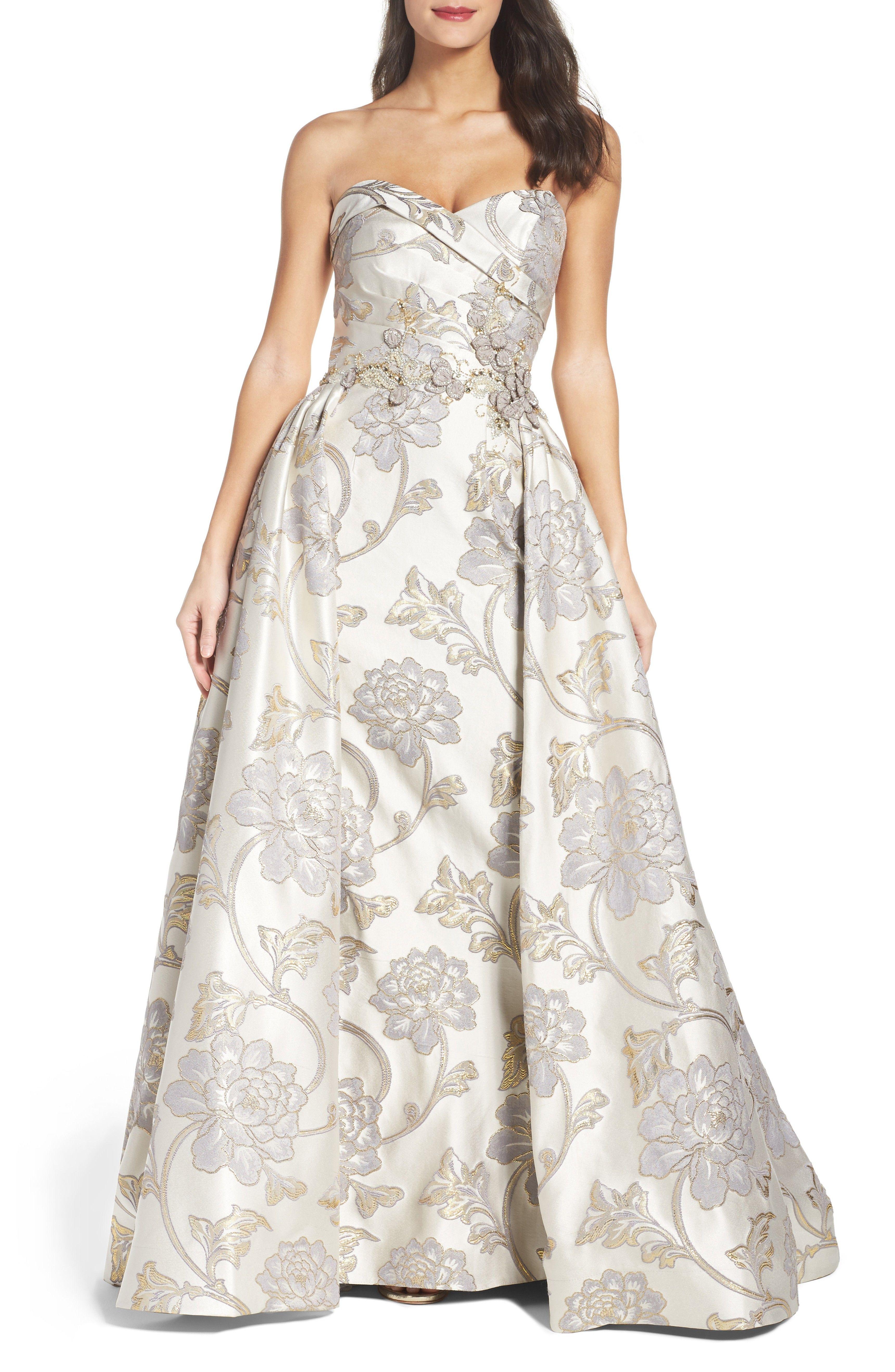 dc0ed0fc2c0 Main Image - Mac Duggal Metallic Brocade Gown | Beautiful Dresses in ...
