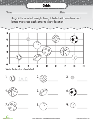 Coordinate grid worksheets 3rd grade
