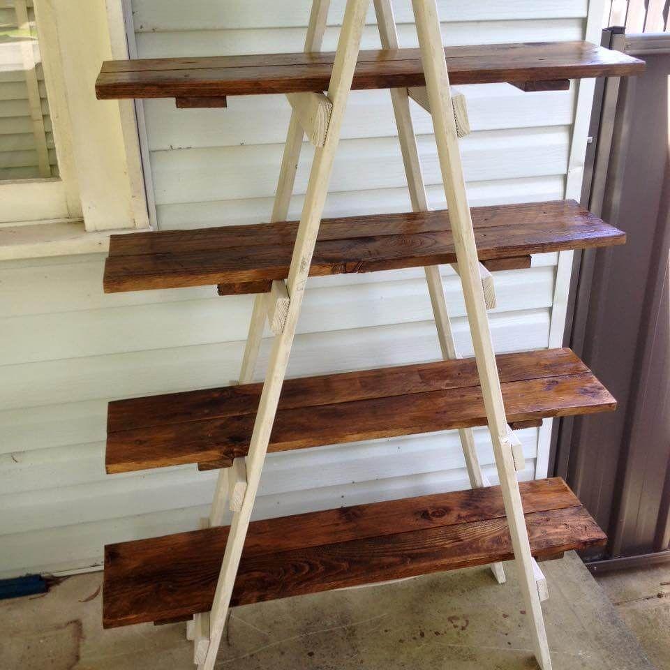 Diy Pallet A Frame Ladder Shelf Pallets Pinterest Shelves