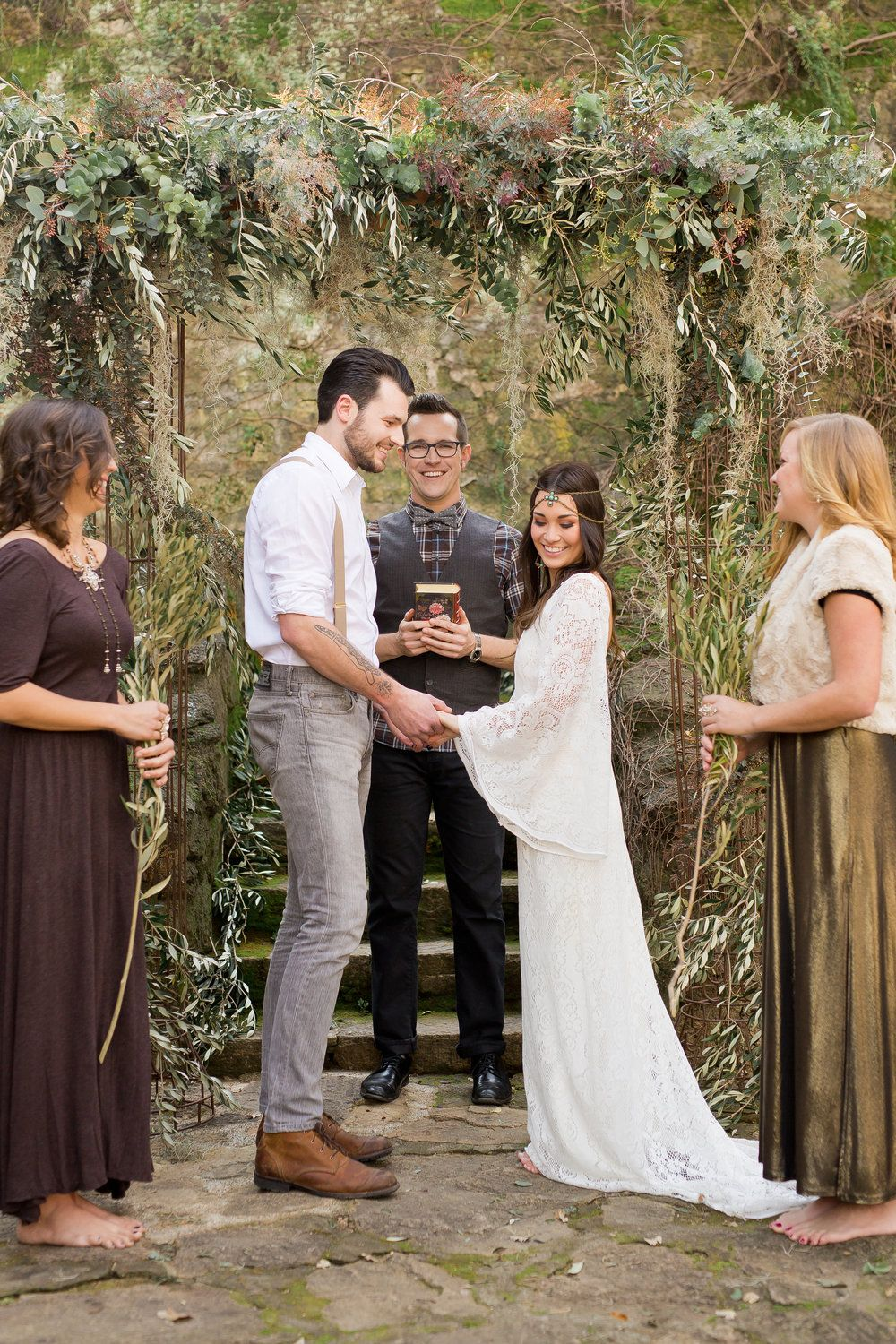 Bohemian fall wedding featured on strictly weddings strictly