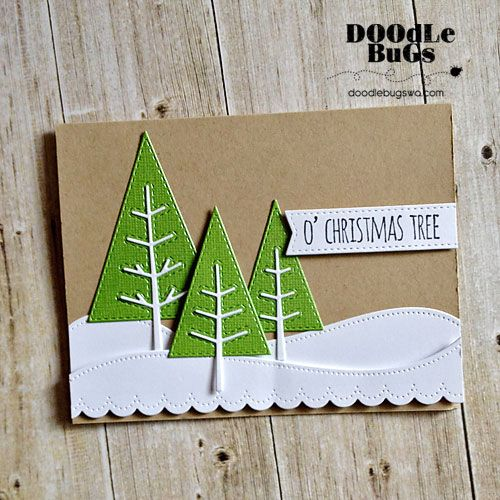 Doodlebugs: Stitched Trees and Stick Pine Tree Dies