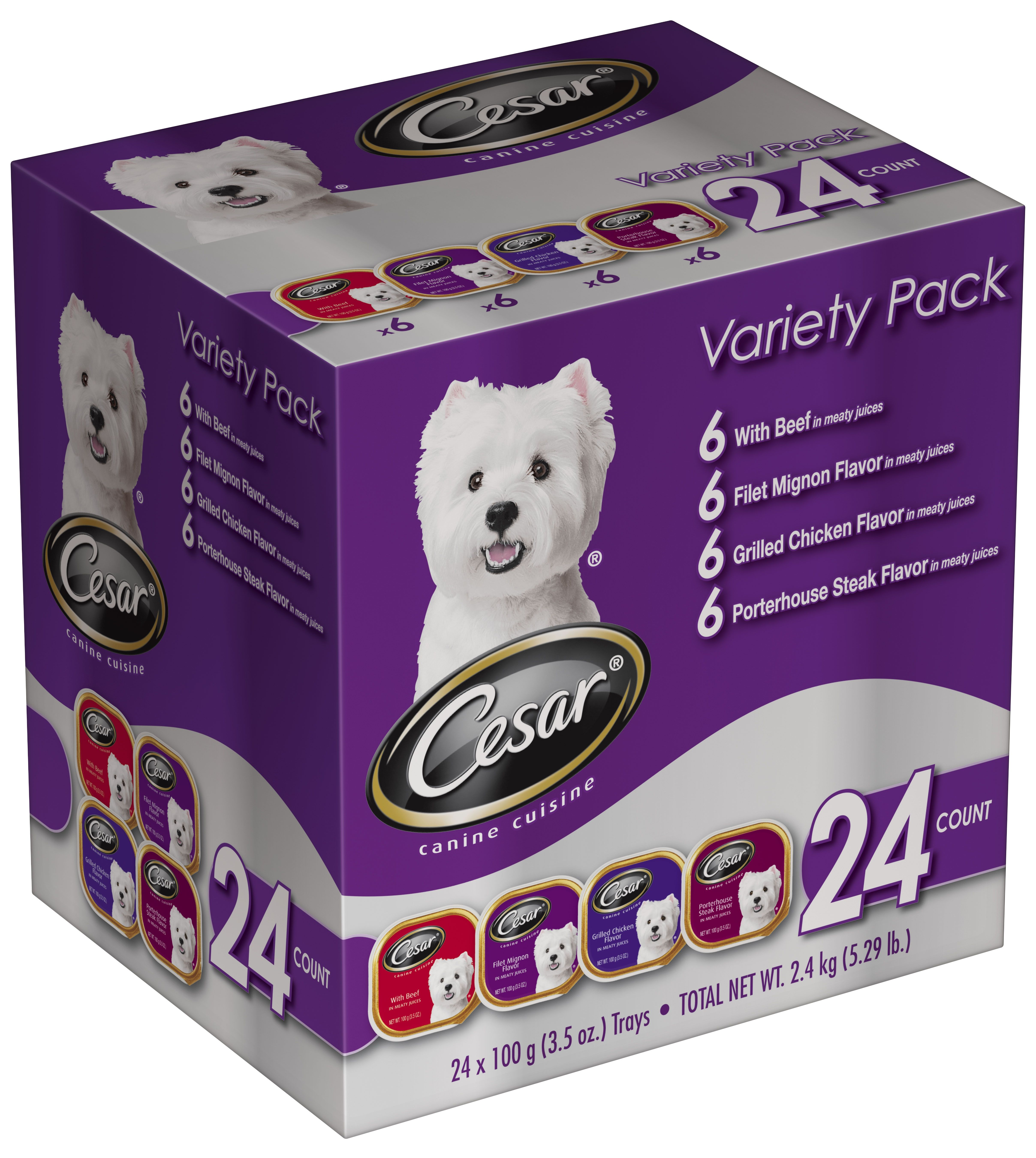 Cesar club pack with 4 varieties your pup will love i