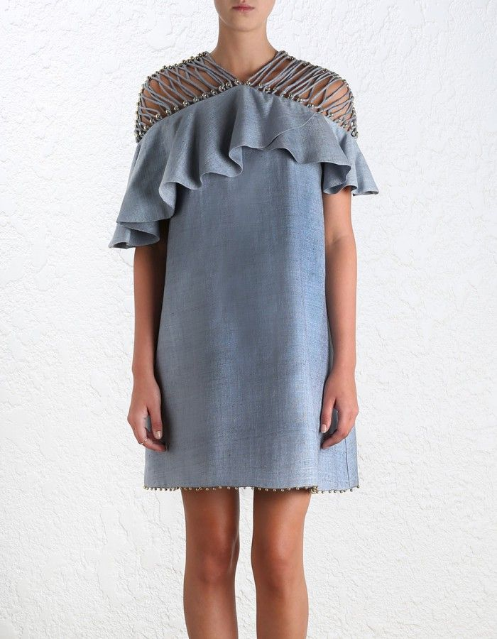 Havoc Lattice Flounce Dress - Ready to Wear