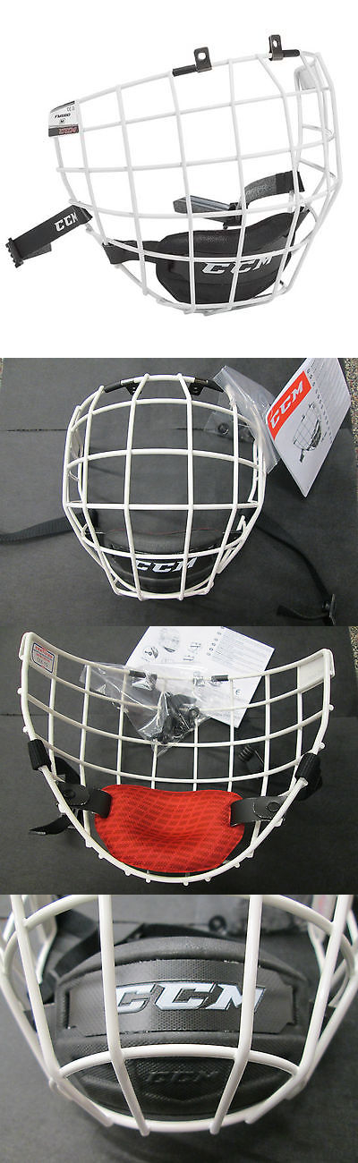Helmets 20854 Ccm Fm580 White Hockey Helmet Cage Face Mask Small Medium Or Large Buy It Now Only 41 99 On Ebay Hockey Helmet Helmet Football Helmets