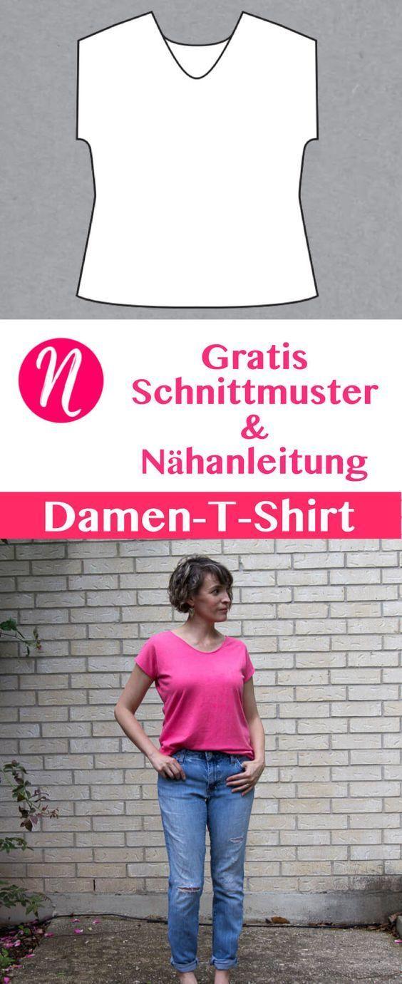 Photo of Damen T-Shirt mit V-Ausschnitt | Freebook Gr. XXS – 3XL | Talente nähen