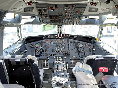 Fedex B 727 Cockpit Aircraft Interiors Flight Deck