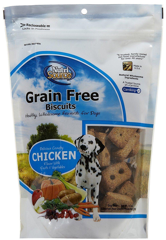 Nutri source grain free chicken biscuit dog treat 14 oz