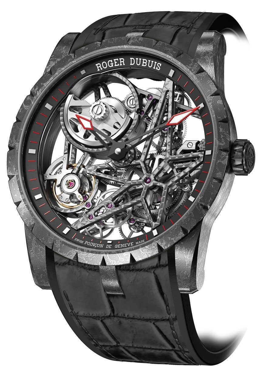 dd1fbb17095 Roger Dubuis Excalibur Automatic Skeleton Carbon Watch