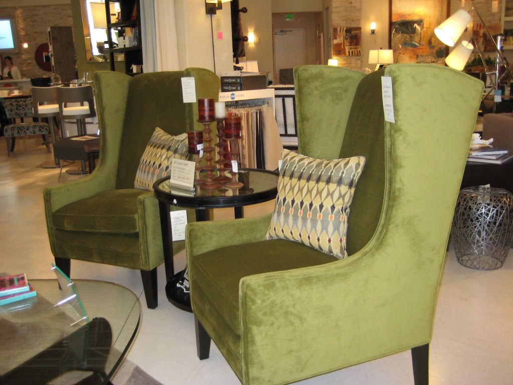 Love These Modern Green Wing Back Chairs For Our Living Room Chair Green Wing Home Decor #wingback #living #room #chairs