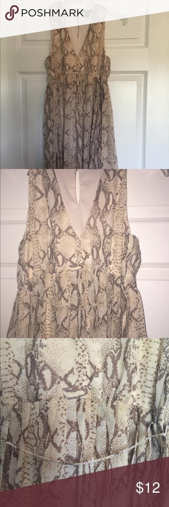 H&m pink pleated dress  HuM Dress Sz  Snakeskin Print  Pinterest  Snake and Printing