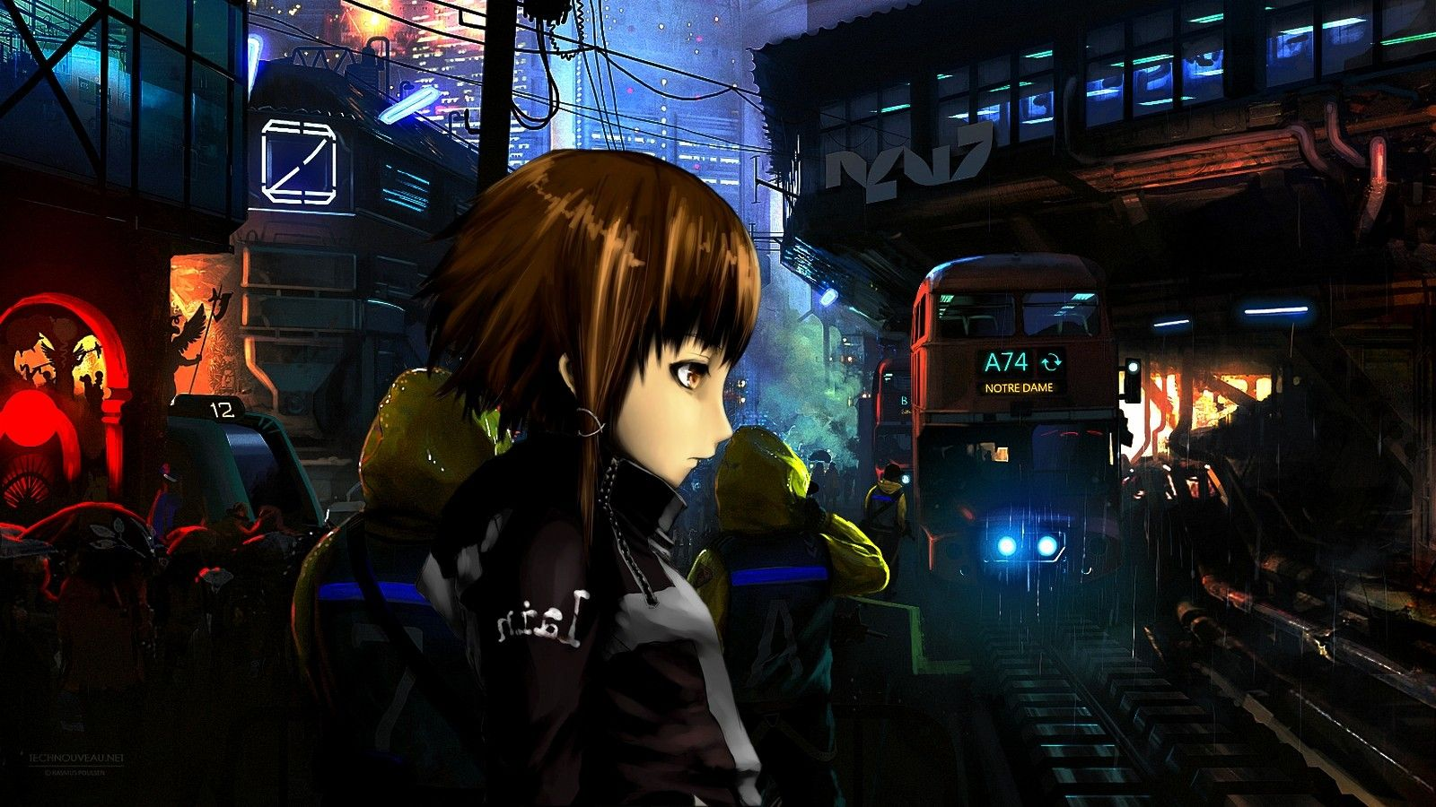 cyberpunk anime serial experiments lain traffic
