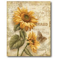 Farmhouse Canvas Country Flowers II Gallery Wrapped Canvas