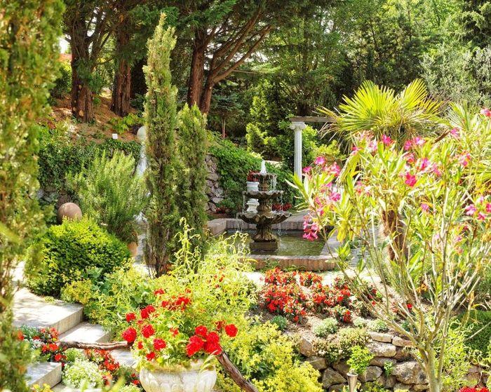 Toskana Garten Galerie Garten Garten Restaurant Wasserspiel Garten