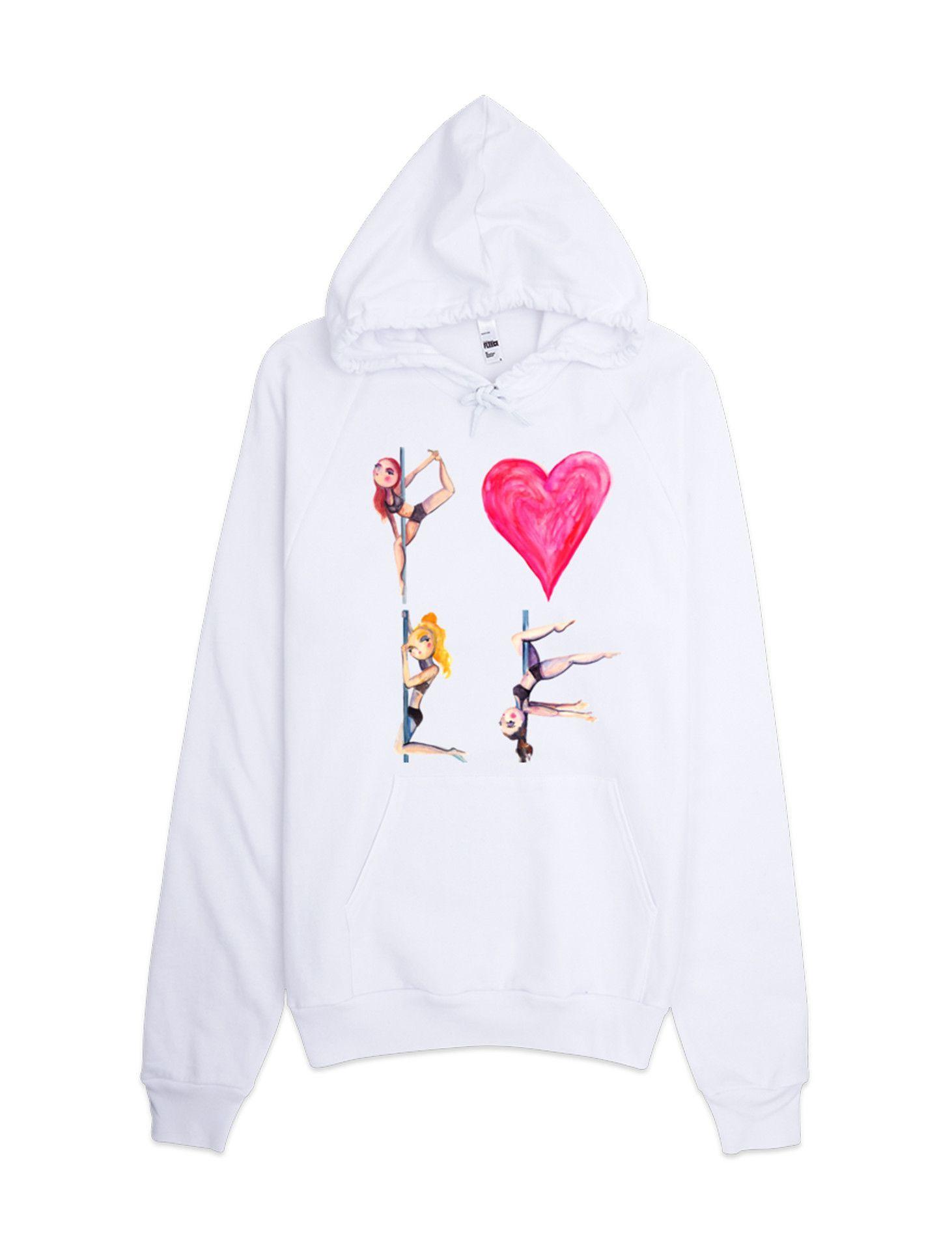 Pole Love Pullover Fleece Hoodie