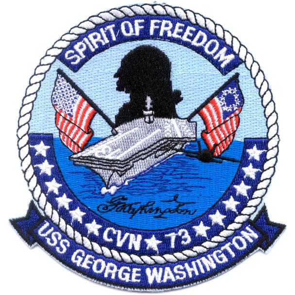 Cvn 73 Uss George Washington Aircraft Carrier Patch Uss George Washington Aircraft Carrier Patches