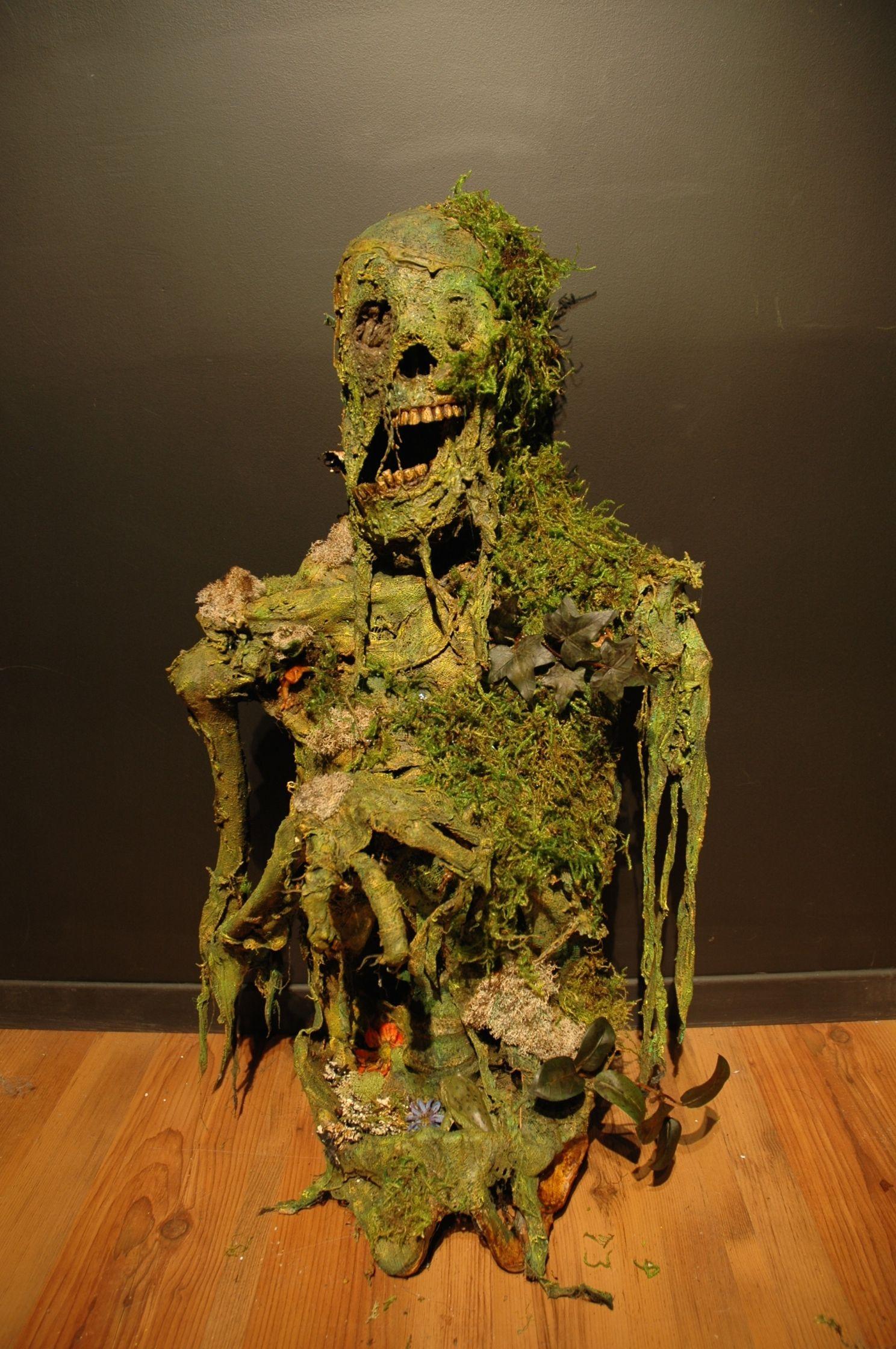 Colin W Laughlin Bucky Skeleton I Corpsed using Latex, Creepy Cloth - diy halloween decorations scary