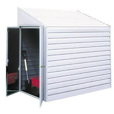 Shed that if painted will blend into the house.   Storage ...