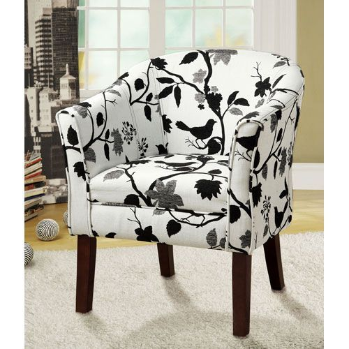 birds and flowers upholstered accent chair coaster armless chairs accent chairs accent fur