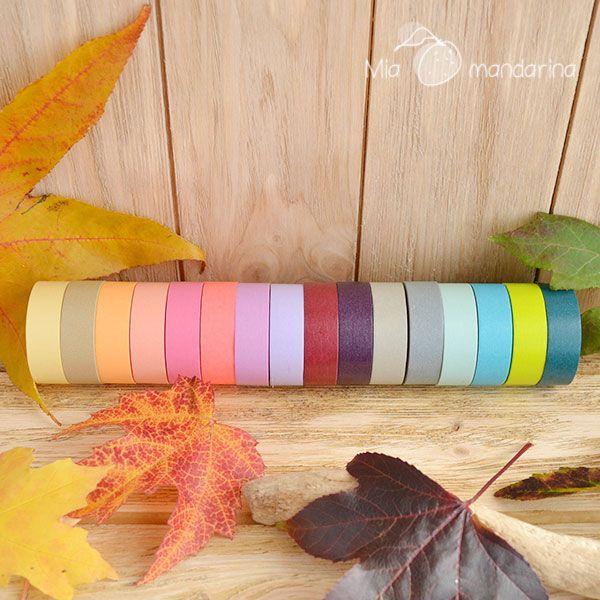 Washi tape marca mt basic en gran cantidad de colores; todos en www.miamandarina.es