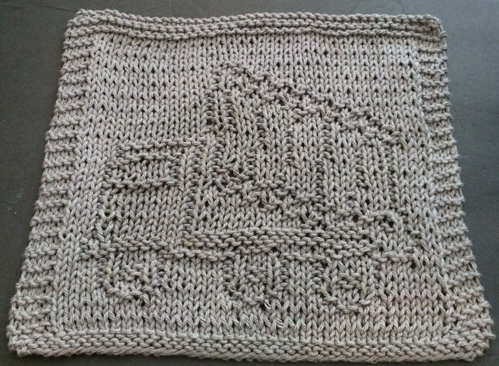 DigKnitty Designs: Dump Truck Knit Dishcloth Pattern | OES: Beginner ...