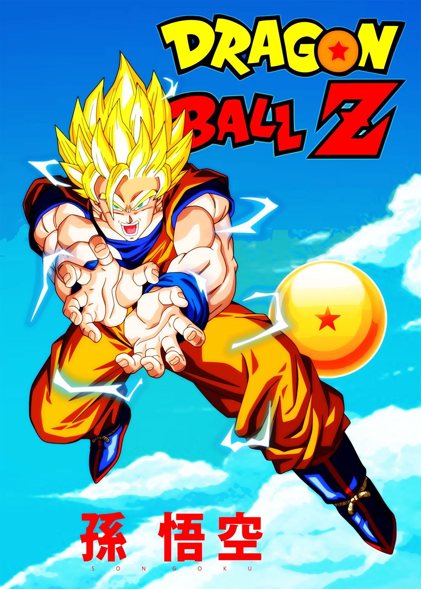 Son Goku Anime Poster Dragon Ball Z in 2020 Anime, Anime