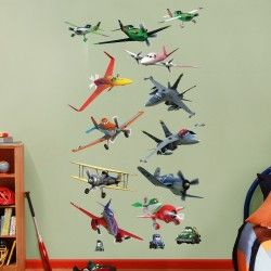 Muurstickers Planes 2016
