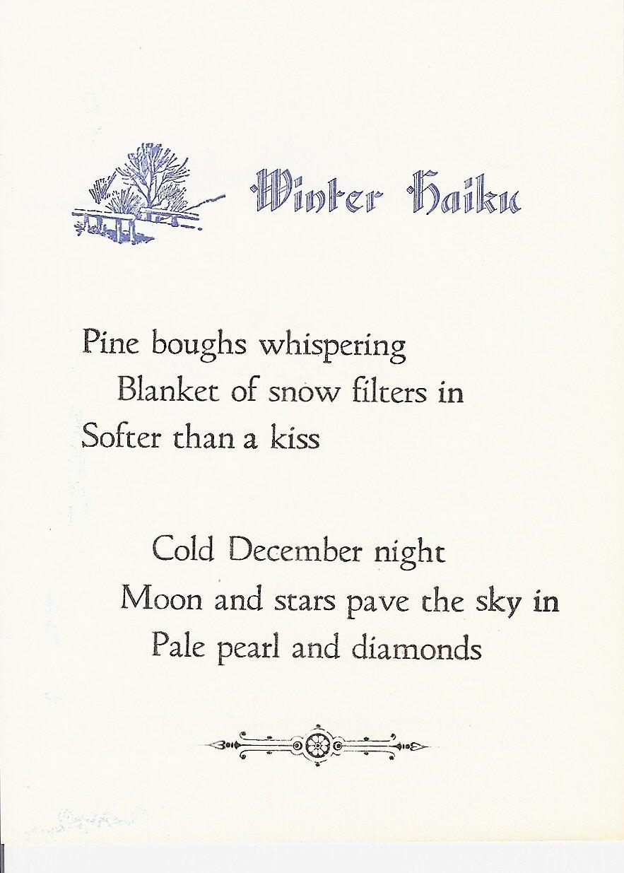 Haiku poem about winter bing images