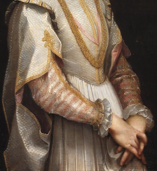 jaded-mandarin:  Federico Barocci. Detail from Portrait of a Young Lady, 1600.