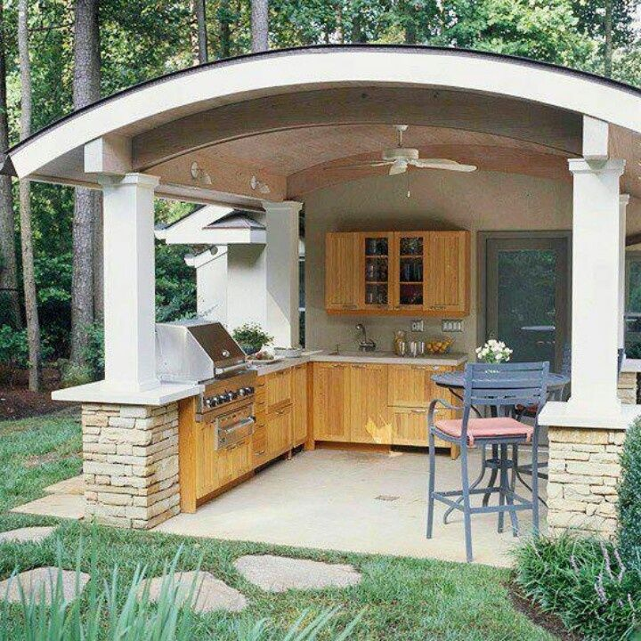 Ideas Of Outdoor Kitchen Roof (With images) | Outdoor ...