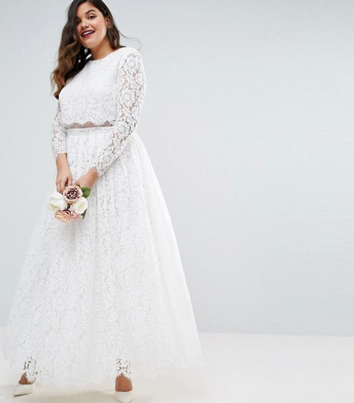 The Coolest Plus Size Wedding Dresses This Season From A Bridal Designer Via Whowhatwear