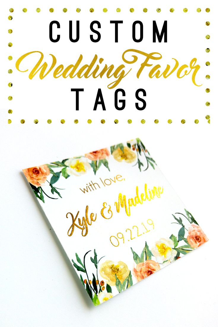 Personalize Your Own Beautiful Wedding Favor Labels Or Create