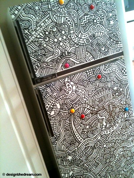How I Turned My Fridge Into A Giant Colouring Book ZentanglesColoring BooksDoodles