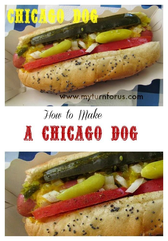 Chicago dogs are an American Classic, loaded with everything except the kitchen sink! http://www.myturnforus.com/2014/06/chicago-dogs.html