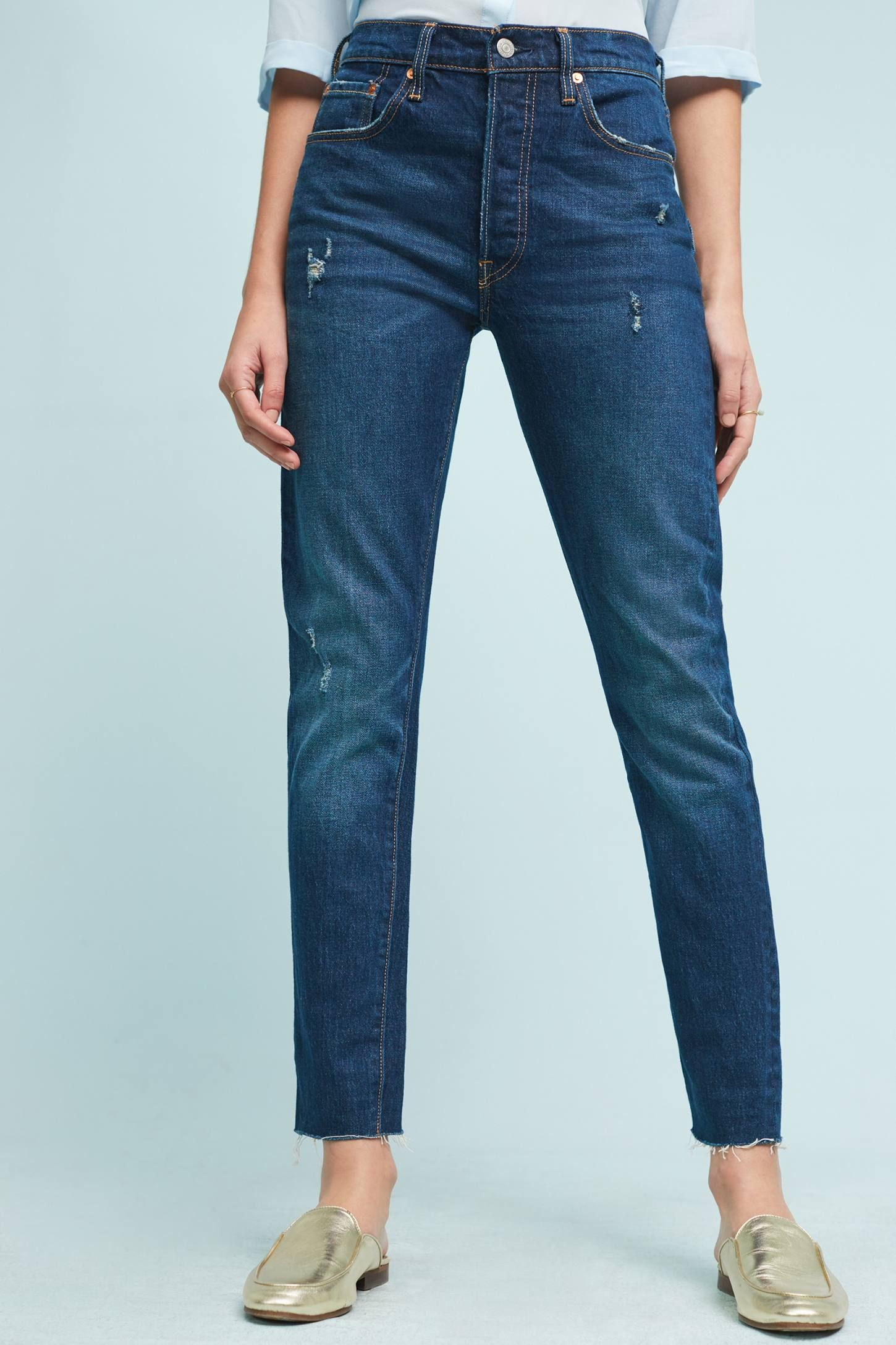 Slide View: 1: Levi's 501 Ultra High-Rise Skinny Jeans