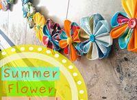 fabric flower garland, crafts, home decor, seasonal holiday decor